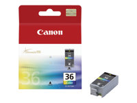 Canon CLI-36 Color - Farge (cyan, magenta, gul, svart) - original - blekkpatron - for PIXMA iP100, iP100 Bundle, iP100 with battery, iP100wb, iP110, mini260, mini320 1511B001